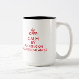 Keep Calm by focusing on Counterbalances Coffee Mugs