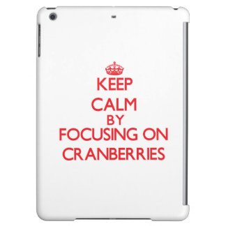 Keep Calm by focusing on Cranberries Cover For iPad Air