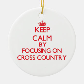 Keep Calm by focusing on Cross-Country Christmas Ornament