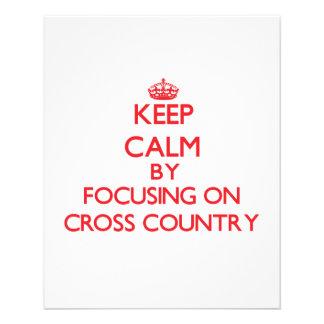 Keep Calm by focusing on Cross-Country Custom Flyer