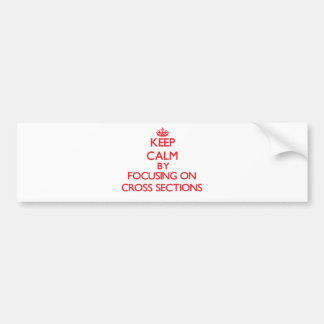 Keep Calm by focusing on Cross Sections Bumper Sticker