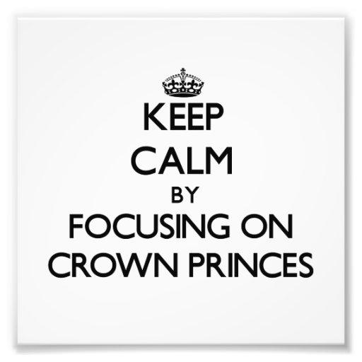 Keep Calm by focusing on Crown Princes Art Photo