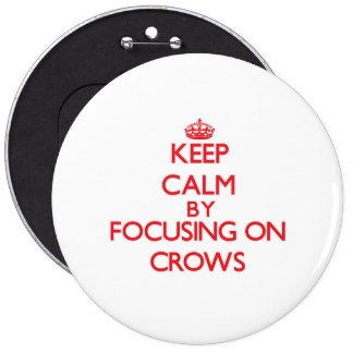 Keep Calm by focusing on Crows Pinback Buttons