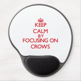 Keep Calm by focusing on Crows Gel Mousepads