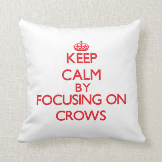 Keep Calm by focusing on Crows Pillows