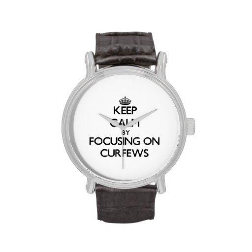 Keep Calm by focusing on Curfews Wrist Watch