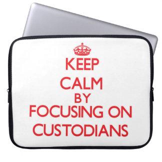 Keep Calm by focusing on Custodians Computer Sleeve