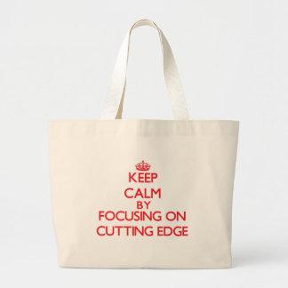 Keep Calm by focusing on Cutting Edge Tote Bag