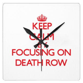 Keep Calm by focusing on Death Row Wall Clock