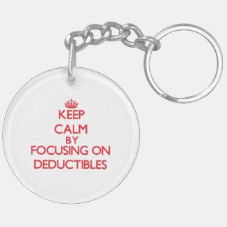 Keep Calm by focusing on Deductibles Acrylic Keychain