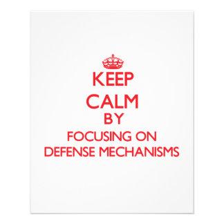 Keep Calm by focusing on Defense Mechanisms Custom Flyer
