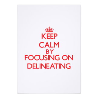 Keep Calm by focusing on Delineating Custom Announcements