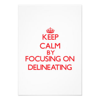Keep Calm by focusing on Delineating Personalized Announcement