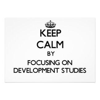 Keep calm by focusing on Development Studies Custom Invitations