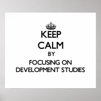 Keep calm by focusing on Development Studies Poster