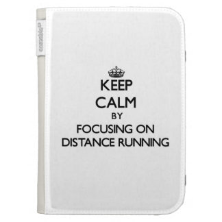 Keep Calm by focusing on Distance Running Kindle Keyboard Cases