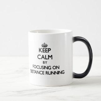 Keep Calm by focusing on Distance Running Mugs