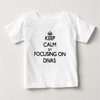 Keep Calm by focusing on Divas Baby T-Shirt