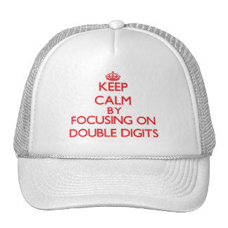 Keep Calm by focusing on Double Digits Mesh Hat