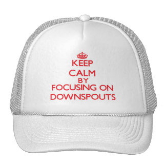 Keep Calm by focusing on Downspouts Mesh Hat