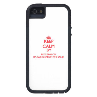 Keep Calm by focusing on Drawing Lines In The Sand iPhone 5/5S Case