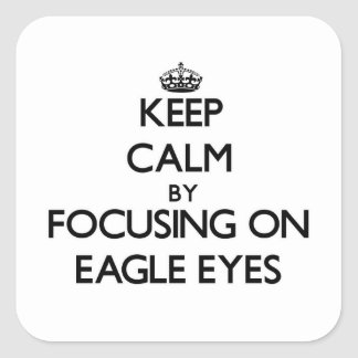 Keep Calm by focusing on Eagle Eyes Stickers