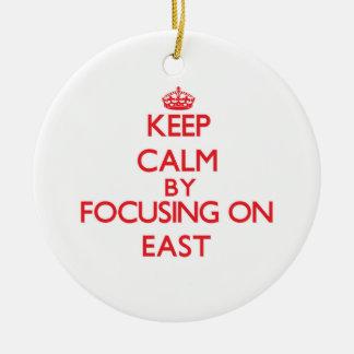 Keep Calm by focusing on EAST Christmas Ornament