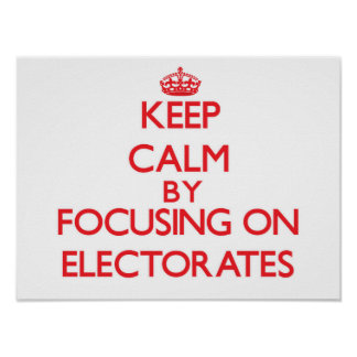 Keep Calm by focusing on ELECTORATES Print