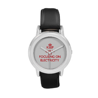 Keep Calm by focusing on Electricity Wrist Watch