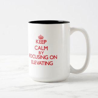 Keep Calm by focusing on ELEVATING Coffee Mug
