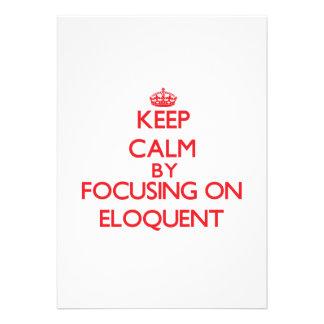 Keep Calm by focusing on ELOQUENT Custom Invitation