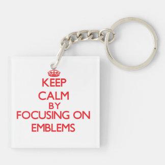 Keep Calm by focusing on EMBLEMS Acrylic Keychains