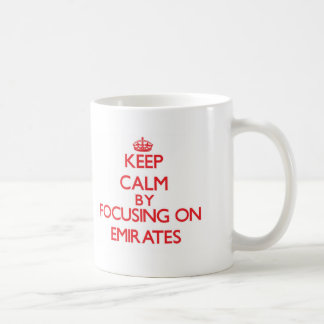 Keep Calm by focusing on EMIRATES Mug