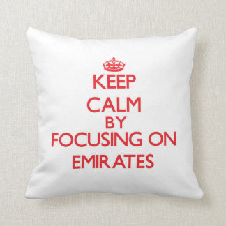 Keep Calm by focusing on EMIRATES Pillows