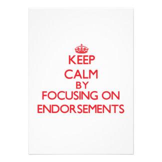 Keep Calm by focusing on ENDORSEMENTS Custom Announcements