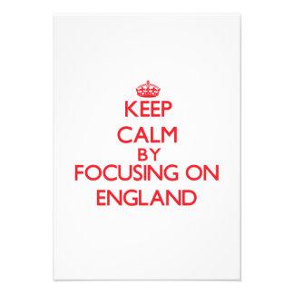 Keep Calm by focusing on ENGLAND Custom Invitations