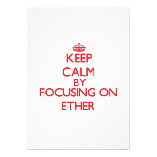 Keep Calm by focusing on ETHER Custom Announcement