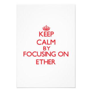 Keep Calm by focusing on ETHER Custom Invitation