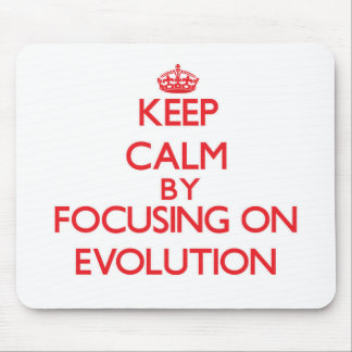 Keep Calm by focusing on EVOLUTION Mouse Pad