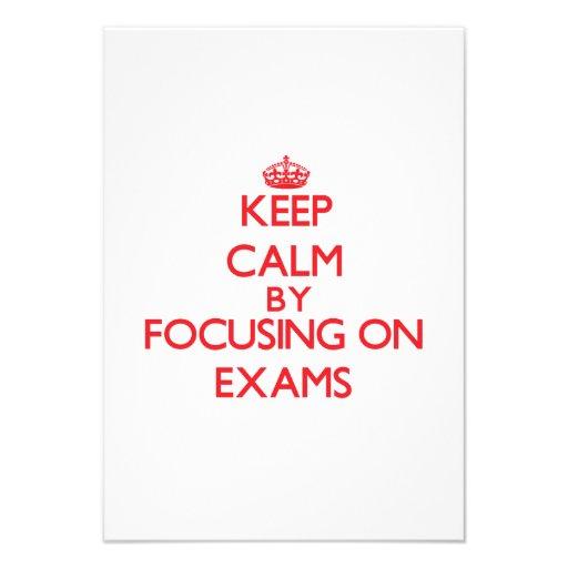 Keep Calm by focusing on EXAMS Custom Invites