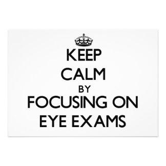 Keep Calm by focusing on EYE EXAMS Custom Invites