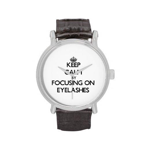 Keep Calm by focusing on EYELASHES Wrist Watch