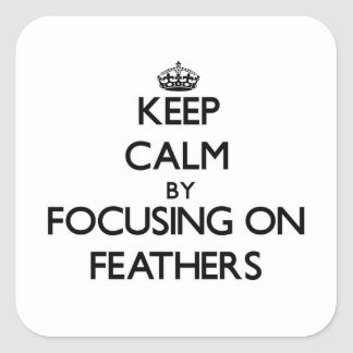 Keep Calm by focusing on Feathers Sticker