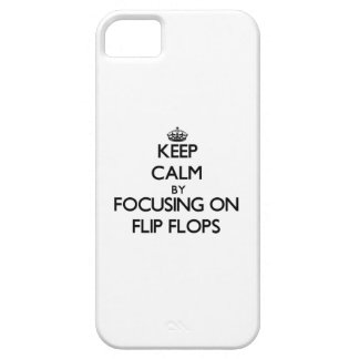 Keep Calm by focusing on Flip Flops iPhone 5 Cover