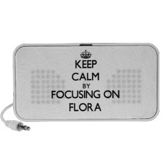 Keep Calm by focusing on Flora iPod Speaker