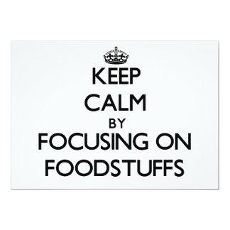 Keep Calm by focusing on Foodstuffs Card