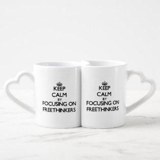 Keep Calm by focusing on Freethinkers Lovers Mugs