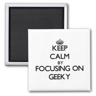 Keep Calm by focusing on Geeky Magnets