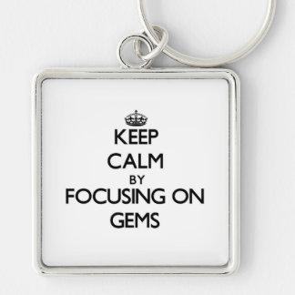 Keep Calm by focusing on Gems Keychains