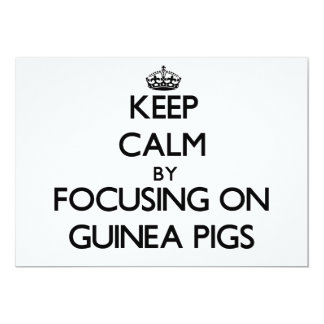 Keep Calm by focusing on Guinea Pigs Invites